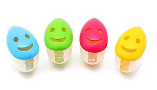 E-Bro®4 PCS Smile Face Antibacterial Toothbrush Cover Holde