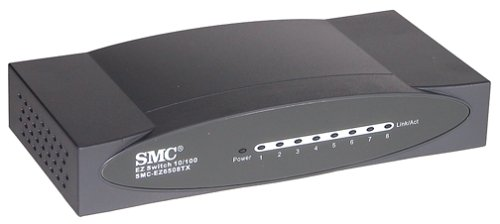 SMC-EZ6508TX 8-Port 10/100Mbps Standalone, Unmanaged SOHO Switch