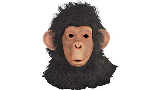 Chimp Mask Halloween Costume Accessories for Adults, One Size, by -