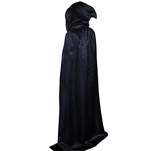 LifeWheel Halloween Grim Reaper Cloak Cosplay Costumes Hooded Sorcerer Robe