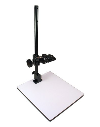 Albinar 23 inch High Copy Macro Stand with 14 inch x 16 inch Base, Quick Release Mount and Bubble Level by Albinar