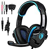 SADES PS4 Gaming Headset Headphone for PC/Laptop/Xbox One with Microphone SA708GT