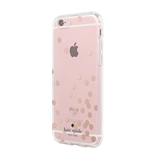 Clear Confetti Dot (Kate Spade New York Hardshell Clear Case for iPhone 6/6s - Confetti Dot Rose Gold Foil/Clear)