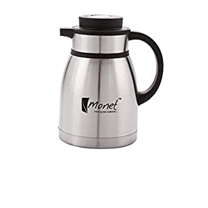 Monet Stainless Steel Brushed Finish Vacuum Kettle Tea Pot (1200 ML)