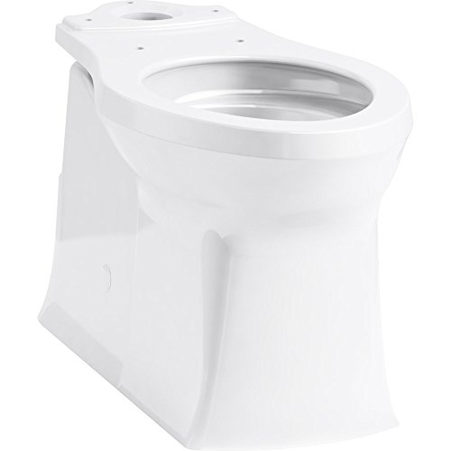KOHLER 4144-0 Corbelle(TM) Comfort Height(R) Elongated Toilet Bowl with Skirted Trapway (R), 1, White ()