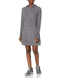 Women's Echo 1/2 Zip Long Sleeve Hooded Dress with Zipper Stash Pocket