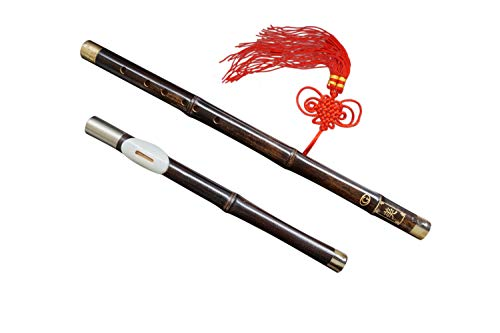 Bamboo Bawu Flute Ba Wu Pipe Woodwind Detachable #102 + Case + How to Play Guide