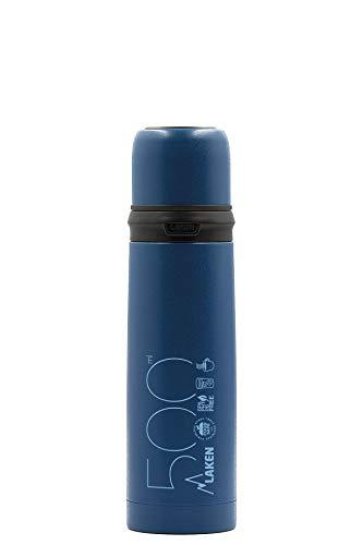 Laken Azul Termo de Acero Inoxidable con Tapon-Vaso 0,5L, Adultos Unisex, 5
