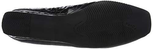 Black Patent Croc Scarpe Black col 140 tacco Dal Donna Van Nero 8YF70qwn