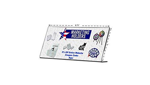 Marketing Holders Slant Back Acrylic Table Sign Holder, Frame 8.75 x 4 Inches by Marketing Holders