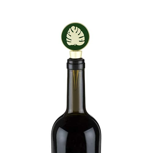 Wine Stopper Decorative Monstera Leaf Wine Stopper Reusable - Set Of 12 (Sold by Case, Pack of 12)