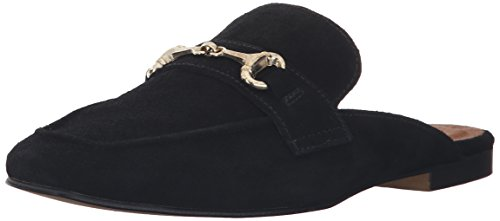 STEVEN by Steve Madden Women's Razzi Slip-on Loafer, Black Suede, 9 M US
