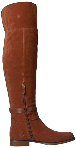 Franco Sarto Women's L-Crimson Over The Knee Boot, Black, Medium Dark Mahogany