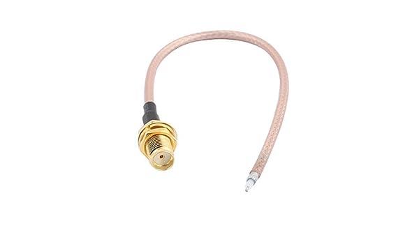 Amazon.com: eDealMax RG316 de soldadura de alambre SMA-K Antena WiFi Pigtail Cable 15cm: Electronics