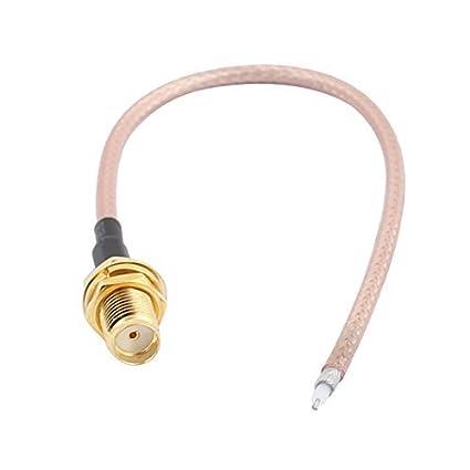 DealMux RG316 solda fio SMA-K Antena WiFi Pigtail Cable 15 centímetros