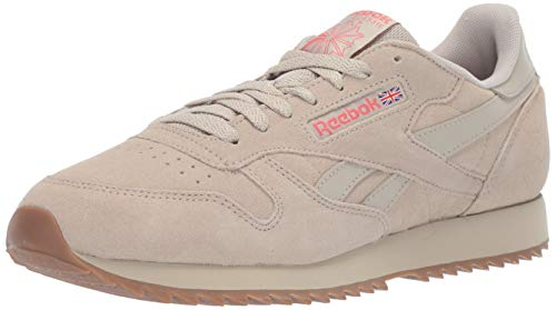 Reebok Men's Classic Leather Sneaker, Light Sand/Rose/lee, 1