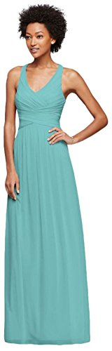 Style Spa W10974 Bridesmaid Bridal Straps with Long Back Dress David's Crisscross 7faqOwx1