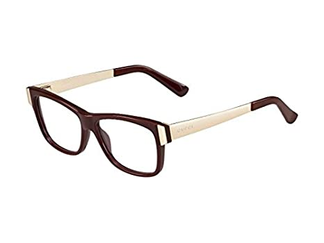 04e9aefb990 Image Unavailable. Image not available for. Color  Gucci GG 3719 E0B  Burgundy And Gold Eyeglasses 53mm