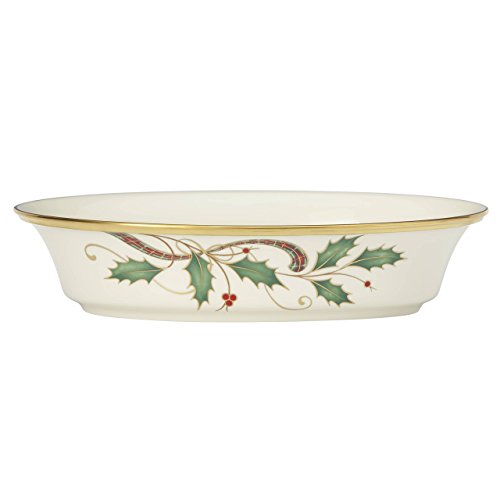 Lenox Holiday Nouveau Gold Open Vegetable - Holiday Vegetable Bowl