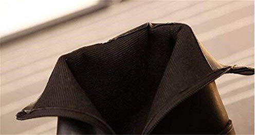 Tavolo Impermeabile Bottom 's Tacco Interno Inclinato 36 Eu Singolo Sed nero Donne Boots Laterale Avvio Pu Spessi 37 Scarpe Eu Cerniera 7ESnPw5q