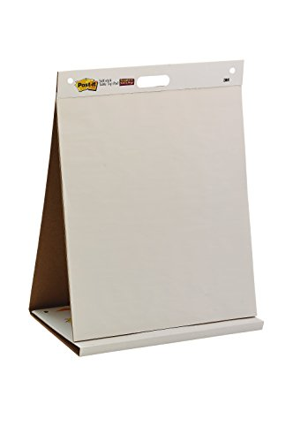 Post-it Tabletop Easel Pad, 20 x 23-Inches, White, 20-Sheets/Pad