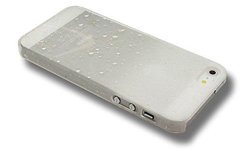 Coque iPhone 4 / 4S Blanche gouttes de pluie Raindrops Cristal