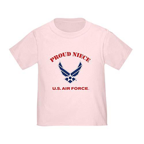 CafePress Proud US Air Force Niece Toddler T Shirt Cute Toddler T-Shirt, 100% Cotton Pink Air Force Toddler T-shirt