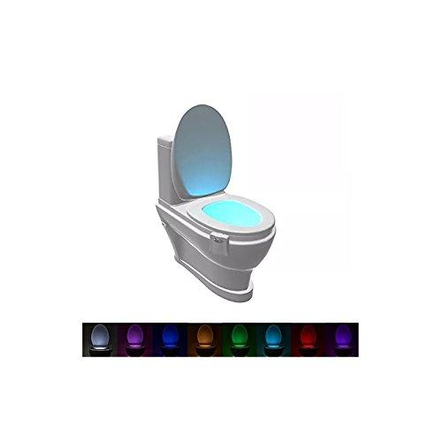 Eclairage LED 8 colores para WC con detector de movimiento para cubeta, asiento WC, lavabo Desineo