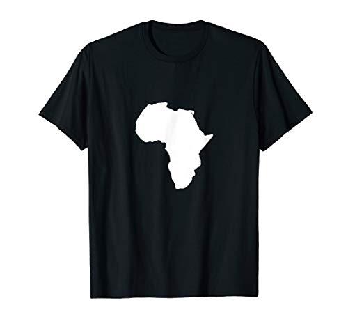 White Africa Map tee shirt (Map T-shirt Africa)