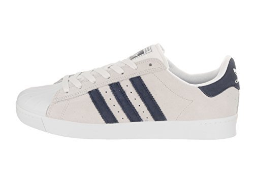 adidas Skateboarding Unisex Superstar Vulc ADV Crystal White/Collegiate Navy/Footwear White Athletic Shoe by adidas Originals