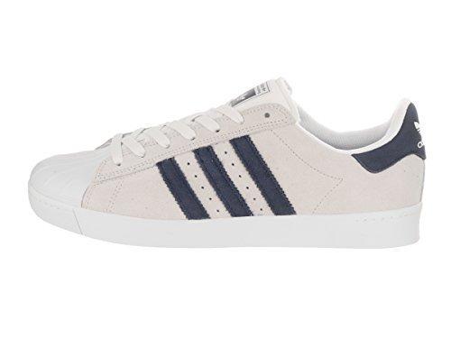 adidas Skateboarding Unisex Superstar Vulc ADV Crystal White/Collegiate Navy/Footwear White Athletic Shoe