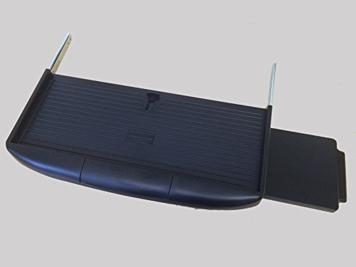 Pullout Keyboard Tray in Black with Mouse Tray by Wood Technology