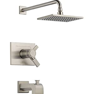 Delta T17T453-SS Vero Tempassure 17T Series Tub and Shower Trim, Stainless