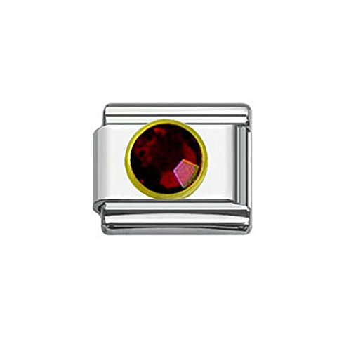 SEXY SPARKLES Rhinestones Birthstone Italian Charm Bracelet 9mm Link Choose Your Birthstone from Menu ()