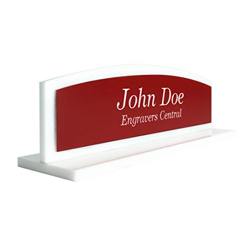 Engravers Central Personalized Modern Sleek Office Desk Name Plate - 1/4