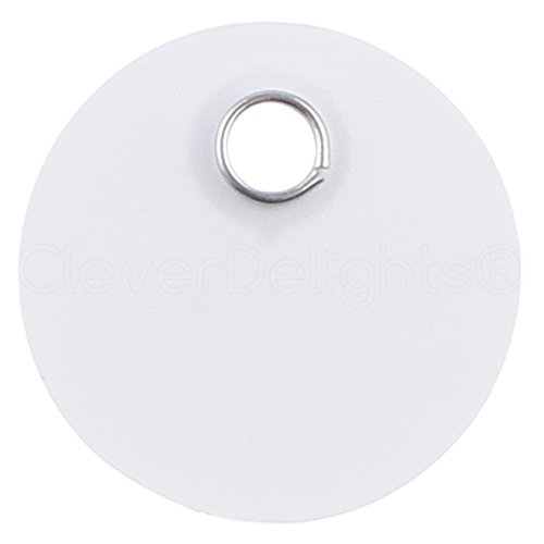 200 Pack - CleverDelights White Plastic Tags - 1