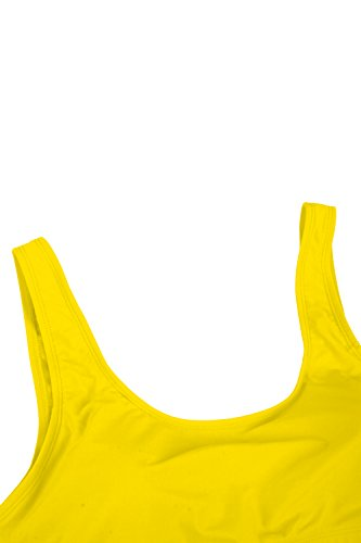 d3ab9ff13c3 Pink Queen Women s Crop Top High Waisted Cheeky Bikini Set Two Piece  Swimsuits