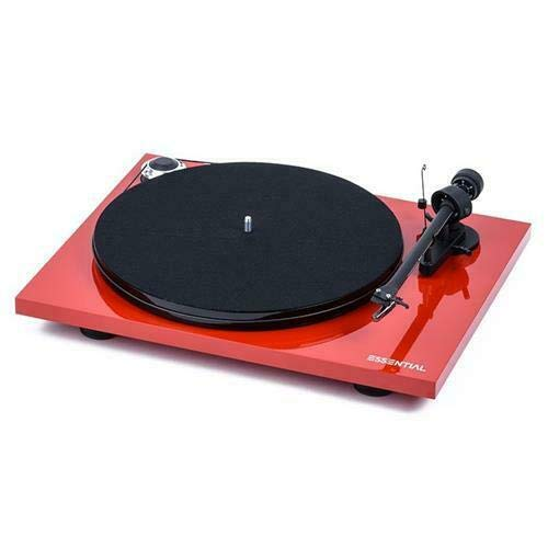 Pro-Ject Essential III Bluetooth Turntable - Gloss Red with Ortofon OM 10e