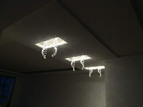 FidgetKute 3W LED Crystal Ceiling Light Small Chandelier Lamp Pendant Fixture Hallway Decor Warm White Surface Mount by FidgetKute (Image #7)