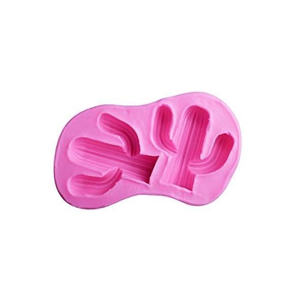 Hosaire - Stampo da pasticceria, pratico stampo in silicone per gelato fondente 3D torta a forma di due cactus bricolage… 1 spesavip