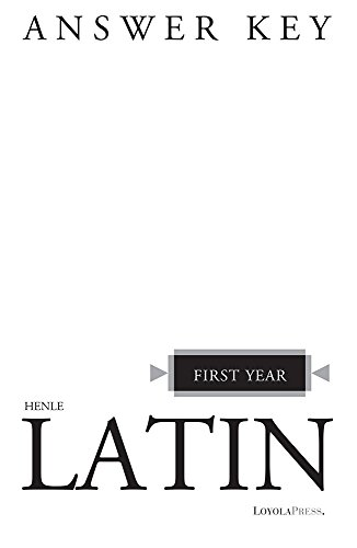 Henle Latin First Year Answer Key