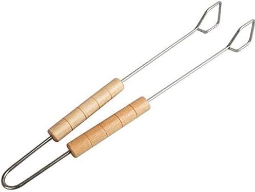 Homespired® Lot de 3 outils pour barbecue avec fourchette et spatule en acier inoxydable avec manche en bois