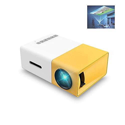 LiChenYao Mini LCD Projector 400-600 Lumens Ion320 X 240 Pixels 3.5mm Audio/HDMI/USB/SD Inputs Media Proyector/Beame