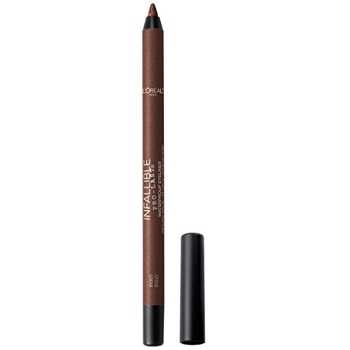 L'Oreal Paris Makeup Infallible Pro-Last Pencil Eyeliner, Waterproof & Smudge-Resistant, Glides on Easily to Create any Look, Bronze, 0.042 oz.