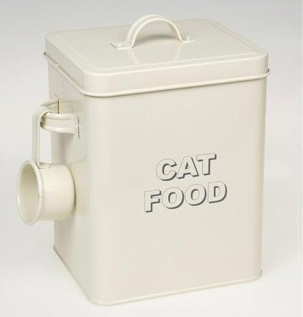 Lesser and Pavey 20 cm Home Sweet Home Cat Food Storage Container, Cream by kitchenmarket