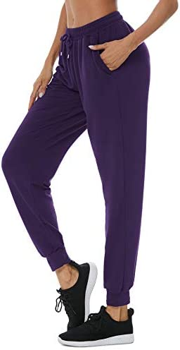 Loovoo Joggers Yoga Pants for Women High Waisted Sweatpants Casual Workout Lounge Pants Comfy Pajama Pants with Pockets