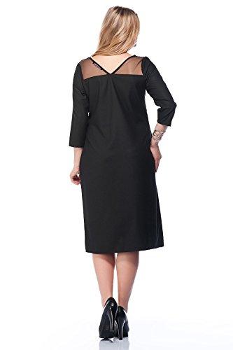 Tunikakleid Damen Designer Abendkleid transparent durchsichtig Tüll auch Große Größen, Kleid Abendmode Festlich Hochzeit/Ball/Party/Dinner/Feier, A-Linie Elegant Skater