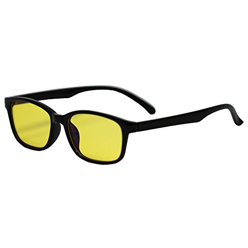 Blue Blocking Glasses - Great for Gamers, Workaholics, Computer Junkies, and Late Night TV Addicts - Amber-Tinted Lenses - Stylish Frames - Blue-Blocking Glasses help to Fight Eye Strain and Fatigue