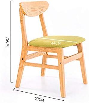 Chaise de salle à manger en bois massif pour adulte