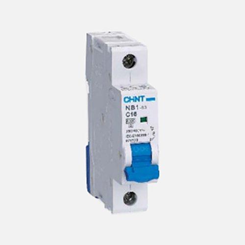 Chint NB1-63DH1P16 Series Miniature Circuit Breaker, 16 A, 1 Pole, D Curve, 10 kA Chint Europe (UK) Ltd